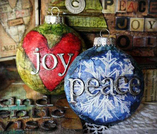 DIY adornos navidad: bolas decoupage