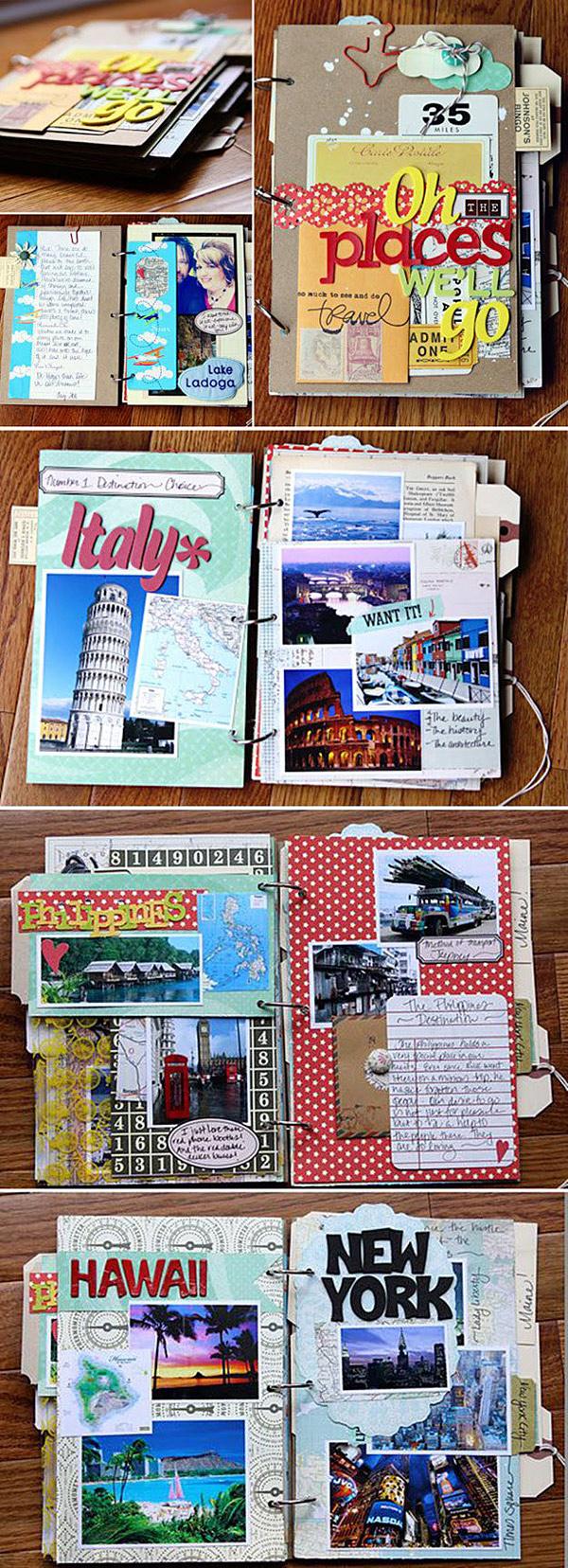 Cuaderno de viajes scrapbooking