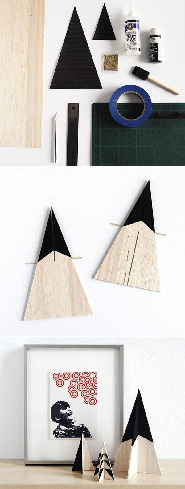 DIY arbol de navidad de madera. manualidades para navidad