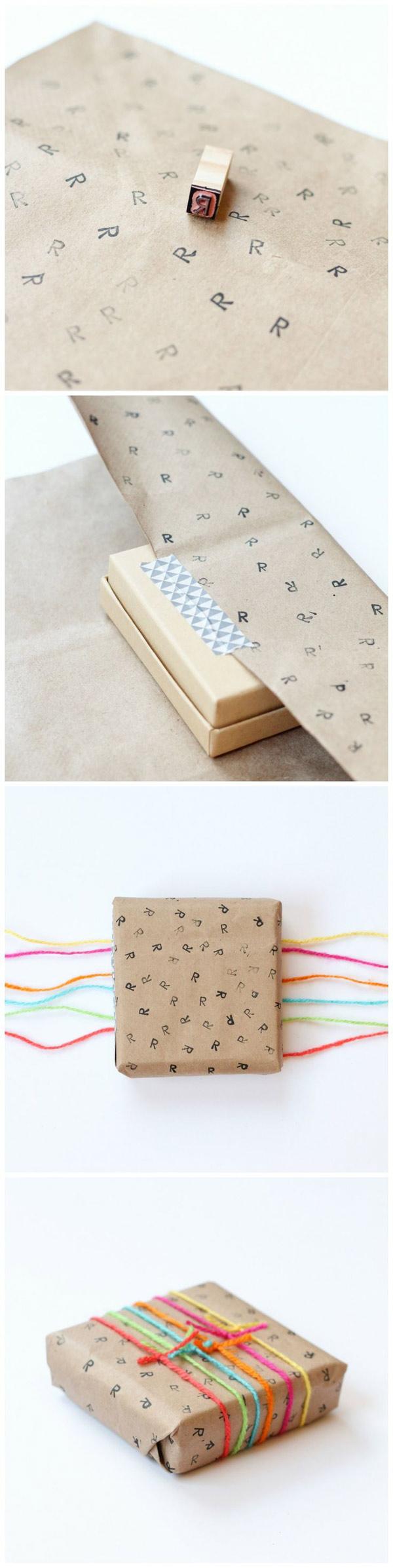 Idea DIY para personalizar envoltorio de regalos