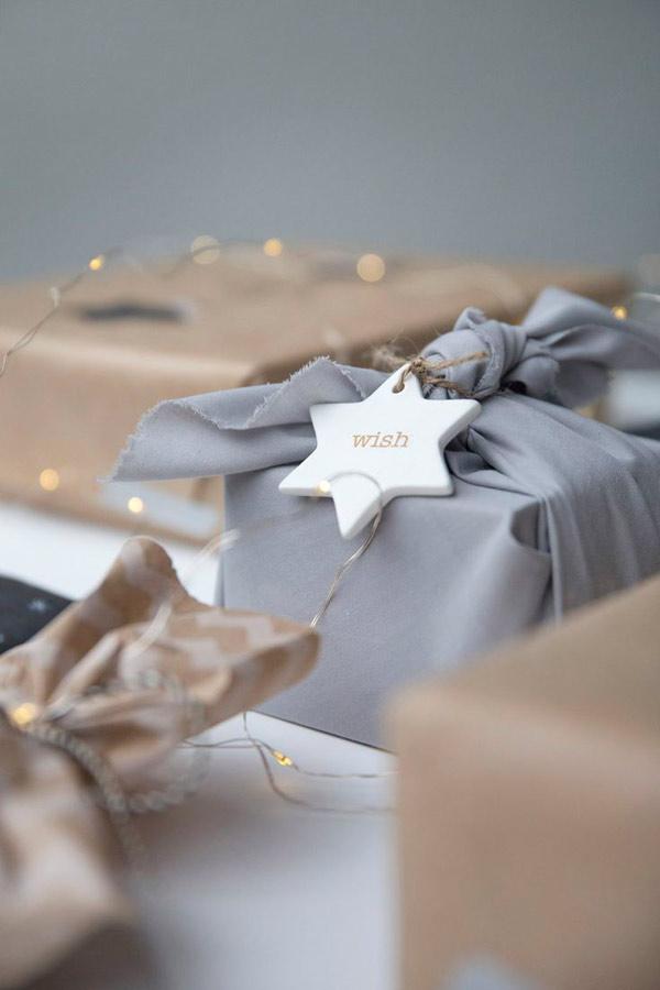 Estilo nordico para los regalos de Navidad
