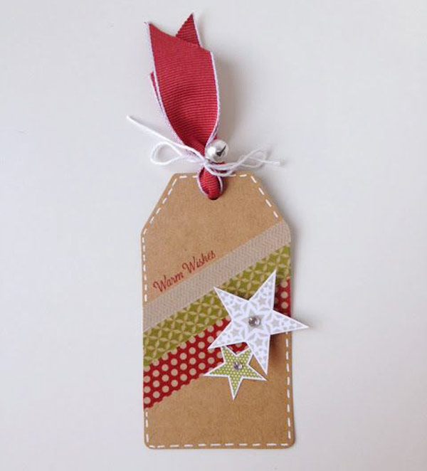 Etiquetas Navidad con washi tape