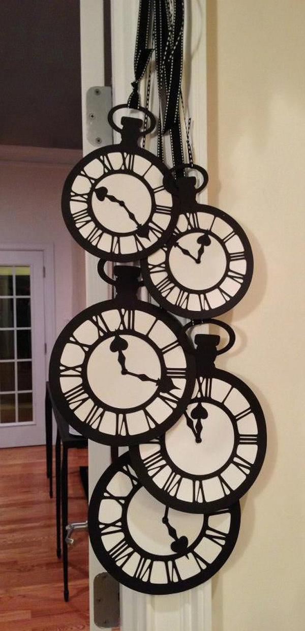 Ideas DIY para año nuevo. Relojes