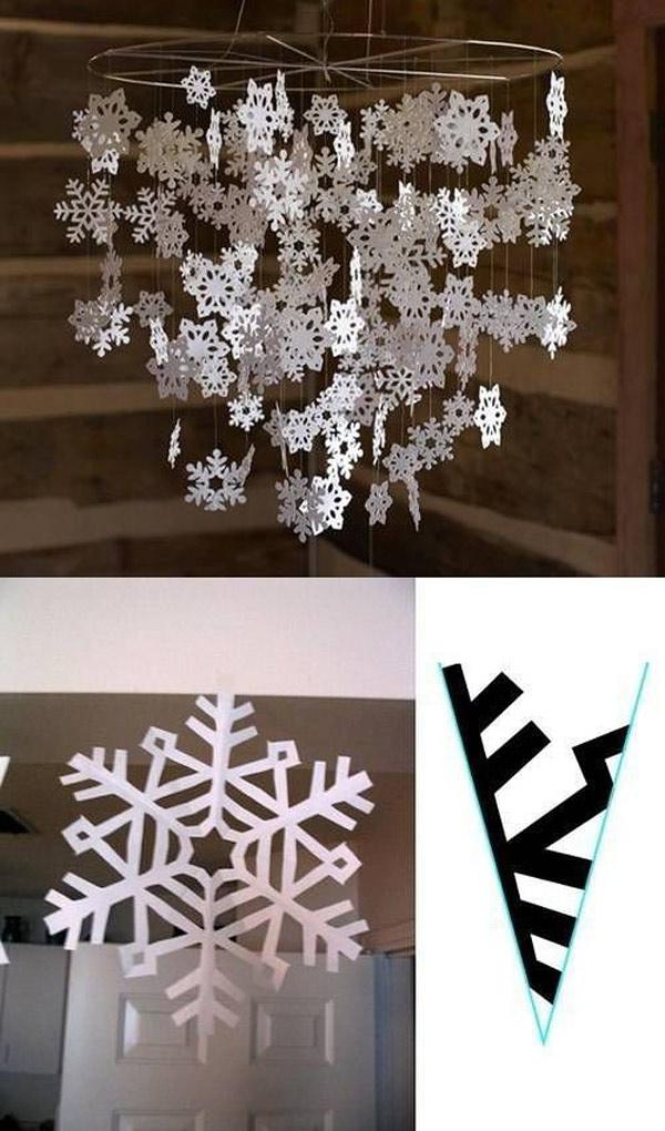 DIY: como hacer moviles de papel para navidad