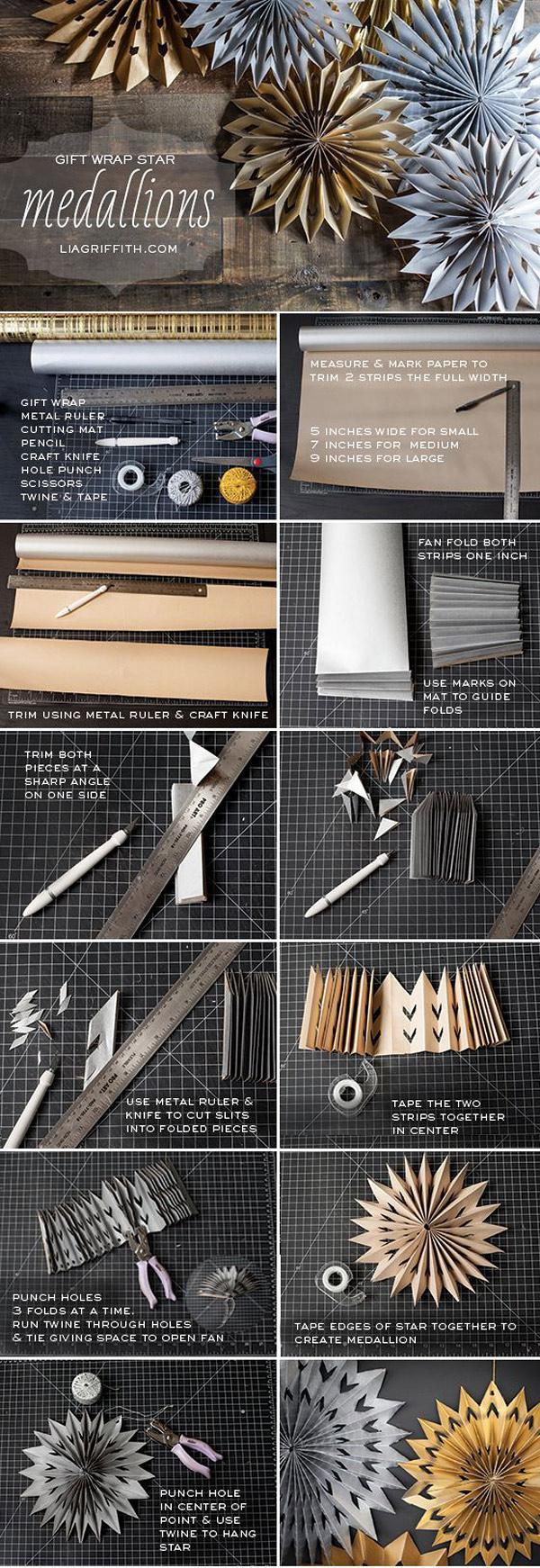 Tutorial DIY abanicos papel