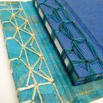 Encuadernación japonesa tipos de cosido con diferentes materiales