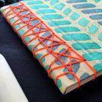 Cuaderno realizado con costura japonesa