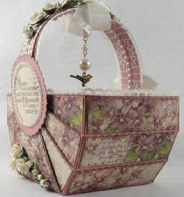 DIY cesta de papel