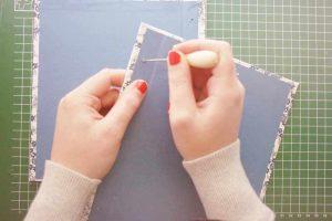 Perforar las portadas encuadenacion japonesa