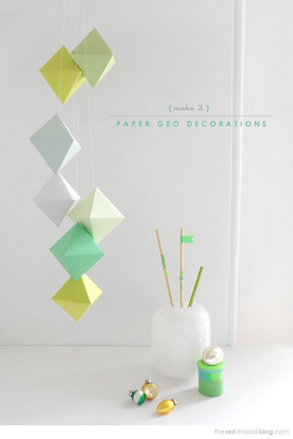 Movil de papel para decorar
