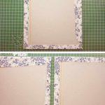 Pegamos el papel sobrante por el interior encuadernacion japonesa