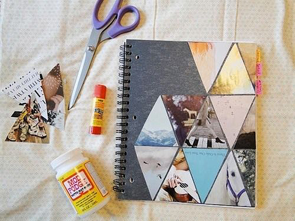 Ideas para decorar cuadernos y libretas con fotos