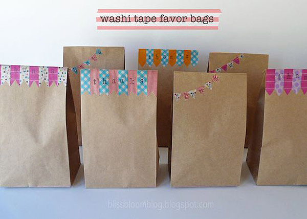 Packaging tiendas: bolsas kraft con washi tape