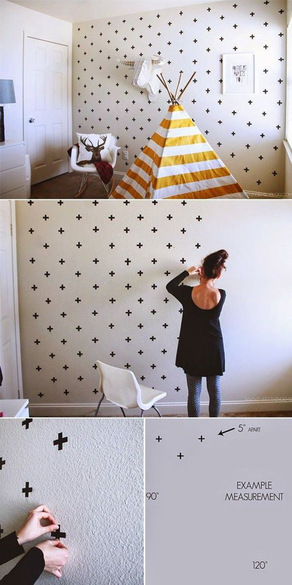 Proyectos con washi tape: decorar paredes