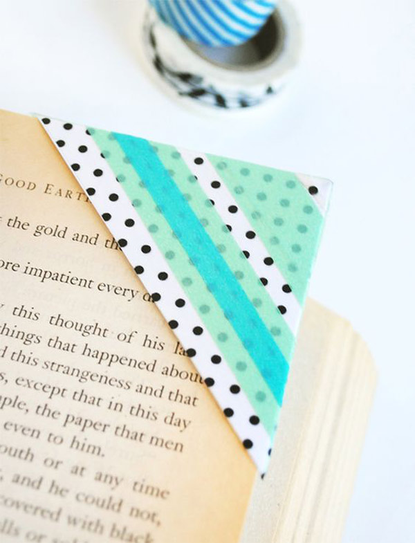 Proyectos con washi tape: marcapaginas