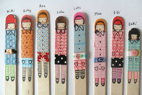 Proyectos con washi tape DIY: palitos helados