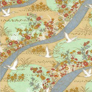 Papel japonés chiyogami: paisaje tradicional