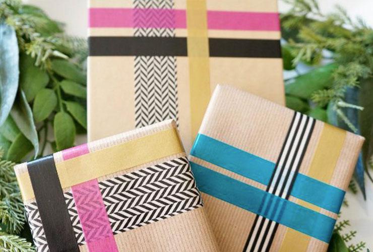 decoracion envoltorio regalos navidad washi tape