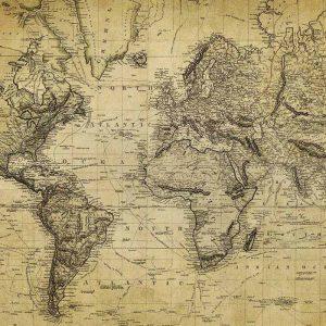 Papel de arroz para decoupage: mapa del mundo