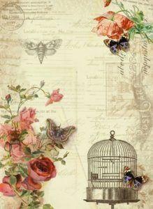 Papel scrapbook con flores de estilo romántico