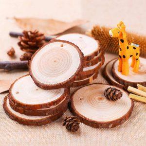Rodajas de madera decoración Navidad