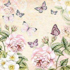 Papel decoupage servilletas flores