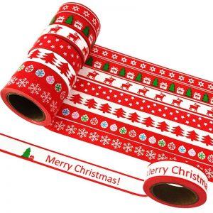 Washi tape Navidad blanco y rojo