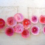 Cuencos inspirados en las flores, pintados con degradados en tonos rosas