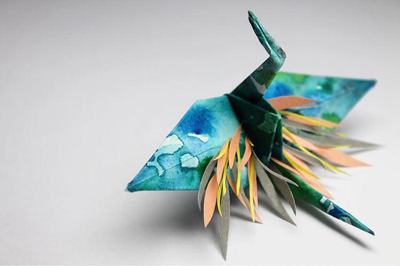 Grulla papel origami cristian marianciuc