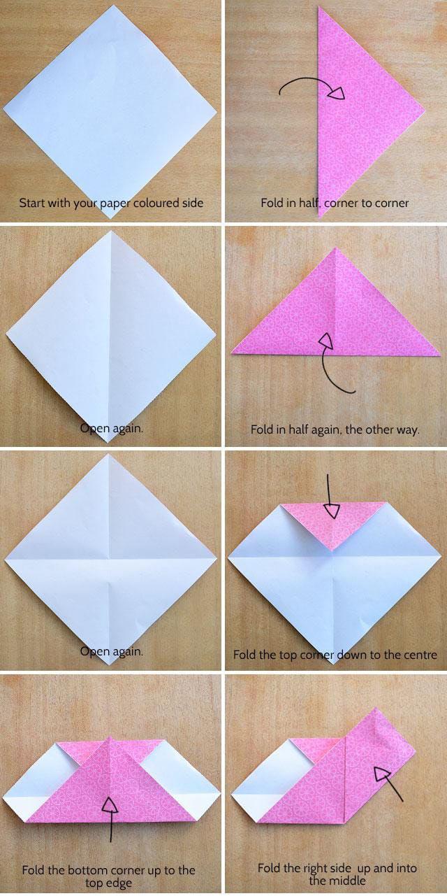 Diy Corazon origami