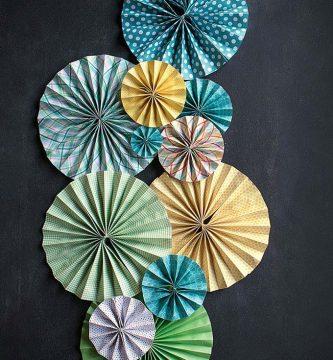 Como hacer abanicos de papel. Manualidades con papel