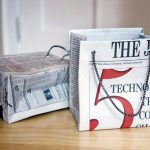 manualidades reciclando papel de periodico: bolsas
