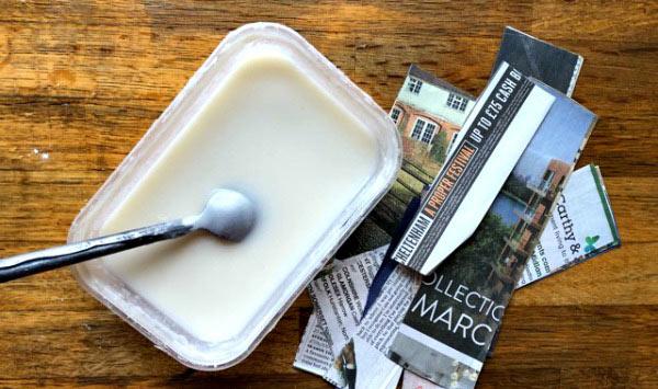 Receta de papel mache. Como hacer la pasta de papel mache