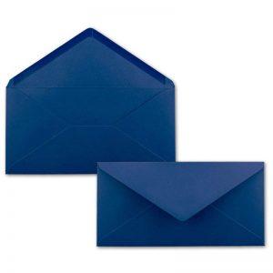 Sobres Dl azules para invitaciones