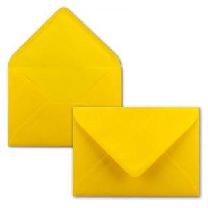Sobres amarillos invitaciones boda