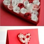 Quilling para niños: Tarjeta corazón de san Valentin
