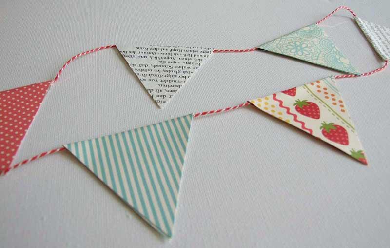 Guirnaldas banderines de papel para fiestas