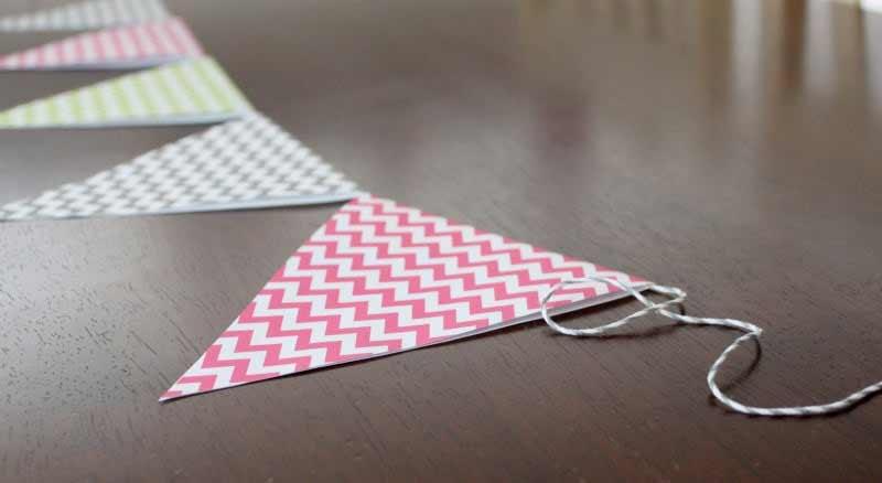 Como hacer banderines de papel paso a paso