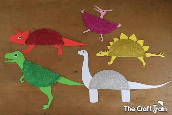 Manualidades de dinosaurios con cartulina
