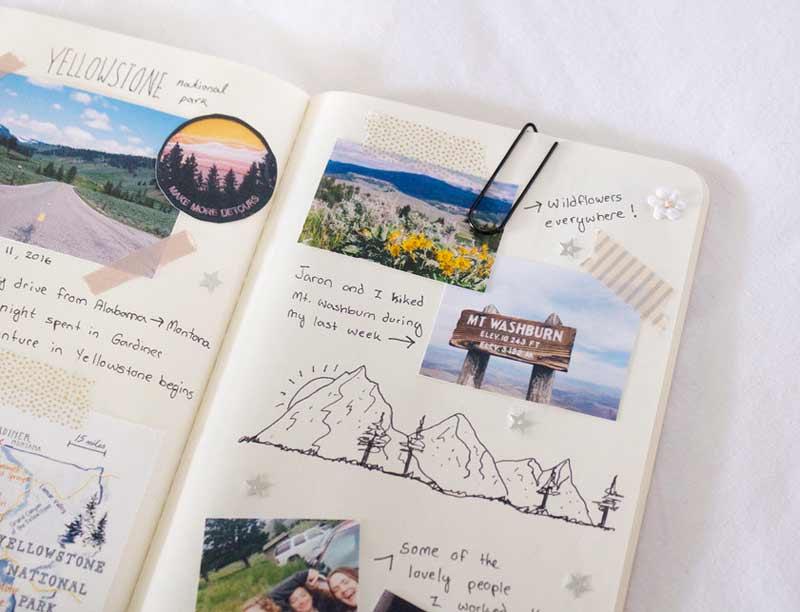 Como hacer un cuaderno de viajes