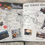 Cuaderno viajes mapamundi