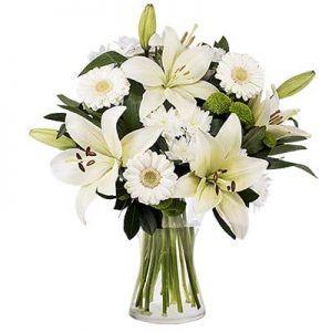 Ramos de flores blancas: lirios