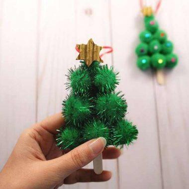 Abetos navideños para colgar del árbol de navidad
