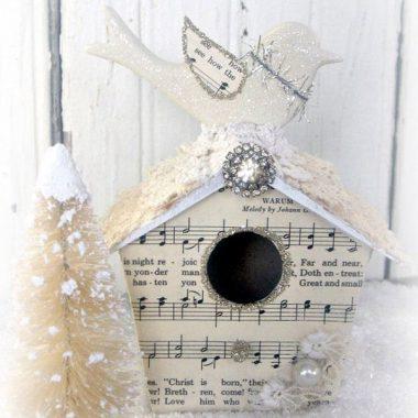 Adornos de Navidad realizados con decoupage
