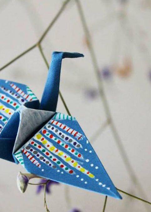 Como hacer una grulla de origami
