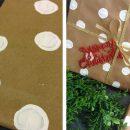 Decora el envoltorio de tus regalos con puntos blancos