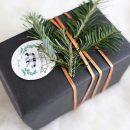 Envoltorio rústico para regalos de navidad