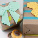 Decora el envoltorio realizando pajaritas de origami