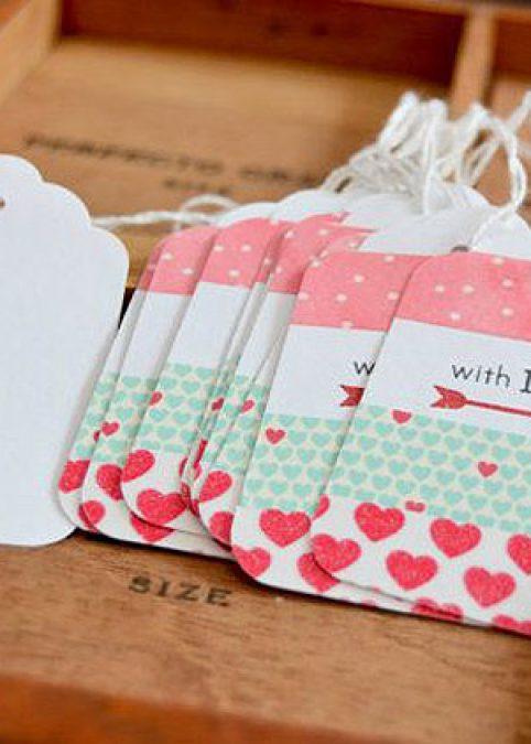 Etiquetas decoradas con washi tape