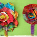manualidades periodico flores de papel